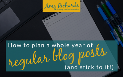 How to plan (and actually publish!) regular blog posts for your small business